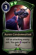 Auren Condemnation