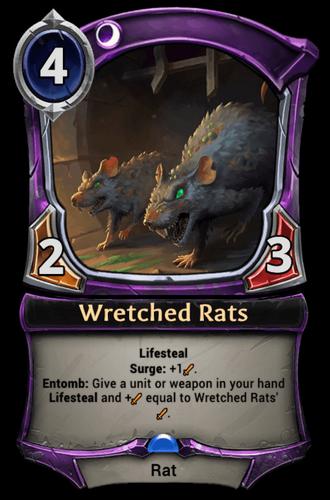 Wretched Rats card