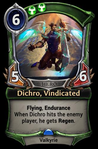 Dichro, Vindicated card