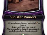 Sinister Rumors