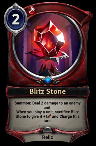 Blitz Stone card