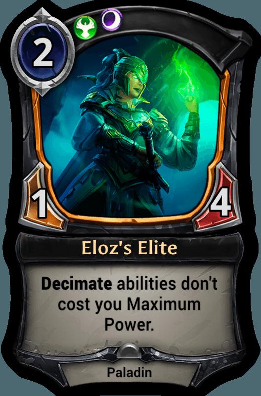 Eloz's Elite card