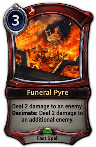 Funeral Pyre card