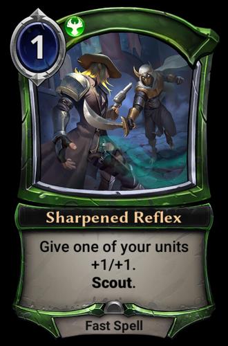 Sharpened Reflex card