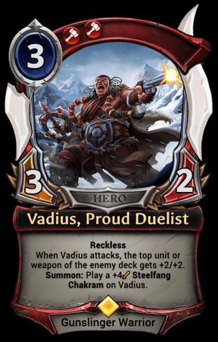 Vadius, Proud Duelist card