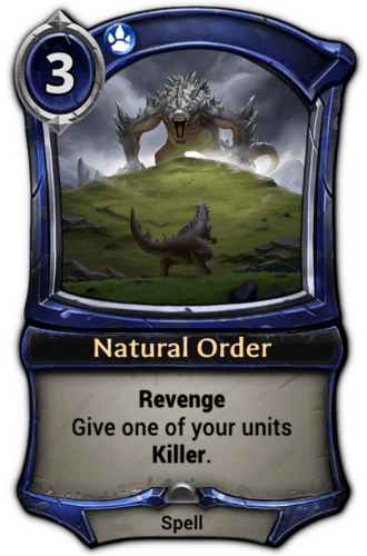 Natural Order card