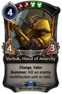 Varbuk, Hand of Anarchy