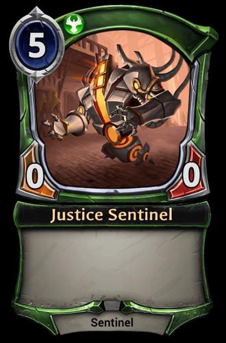 Justice Sentinel card