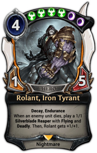 Alternate-art Rolant, Iron Tyrant card
