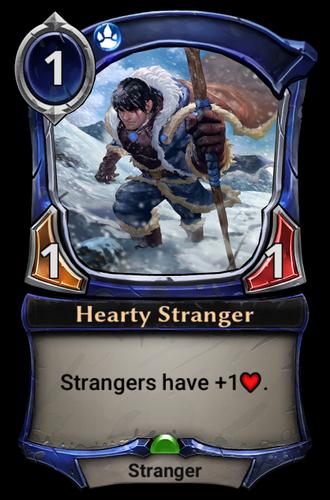 Hearty Stranger card