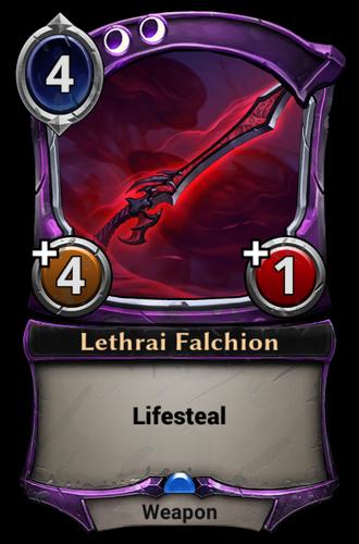 Lethrai Falchion card