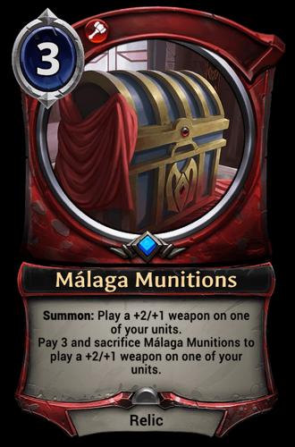 Málaga Munitions card