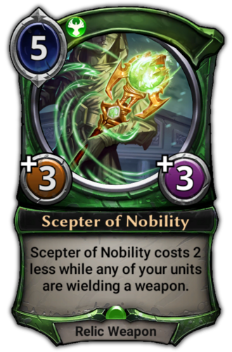 Scepter of Nobility card
