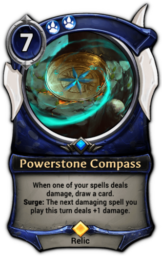 Powerstone Compass card