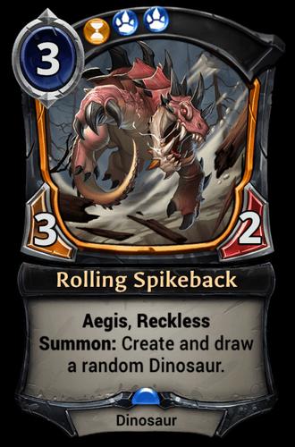 Rolling Spikeback card