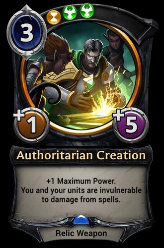 Authoritarian Creation card