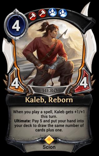 Kaleb, Reborn card