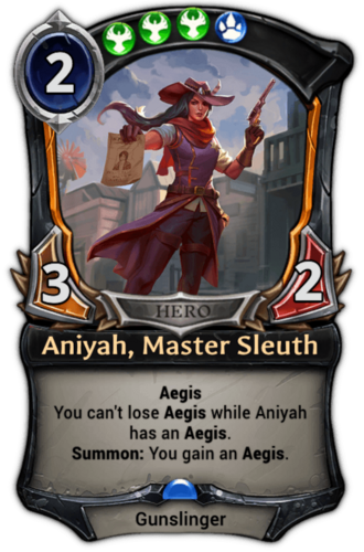 Aniyah, Master Sleuth card