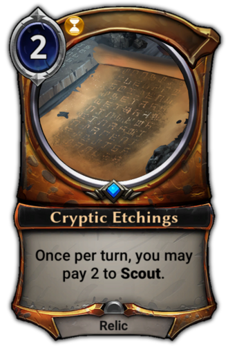 Cryptic Etchings card