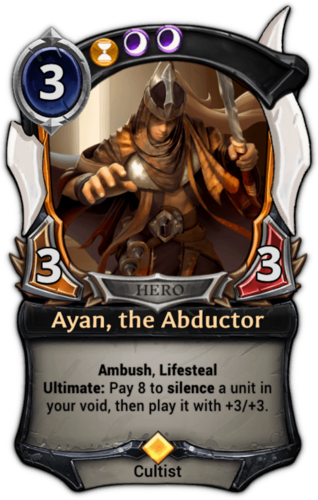 Ayan, the Abductor card