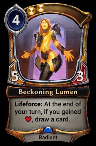 Beckoning Lumen card