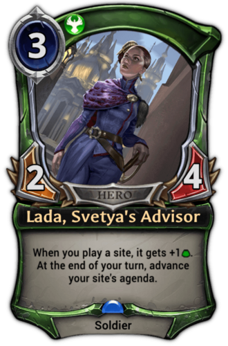 Lada, Svetya's Advisor card