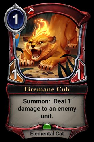 Firemane Cub card