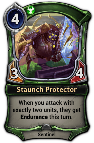 Staunch Protector card