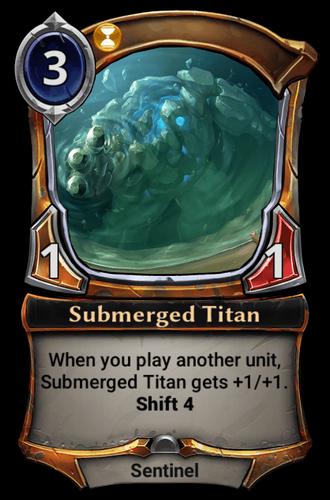 Submerged Titan card