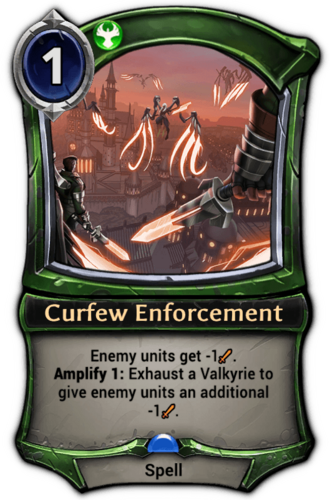 Curfew Enforcement card