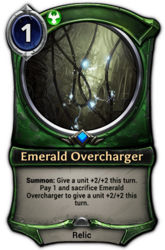 Emerald Overcharger card