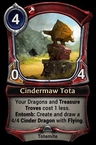 Cindermaw Tota card