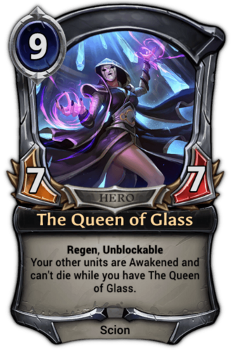 The Queen of Glass card
