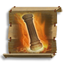 Poe2 scroll of pillar of holy fire icon.png