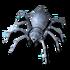 Winzige Spinne