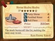 Stratum 5. Horse Shabu Shabu