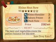 Stratum 4. Rhino Meat Stew