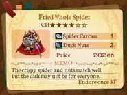 Stratum 4. Fried Whole Spider