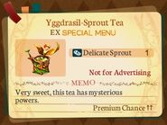 Special Menu. Yggdrasil-Sprout Tea