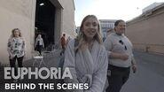 Euphoria set tour with sydney sweeney - behind the scenes of season 1 HBO