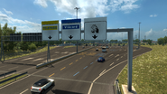 Highway signs Toll Italy