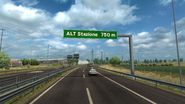 Highway Toll sign Italy