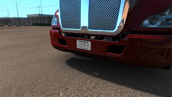 Truck license plate