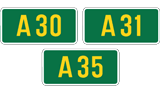 A30, A31 and A35 (United Kingdom)