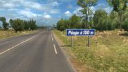 France Minor road Péage sign