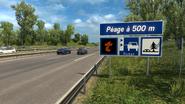 France Autoroute Péage sign