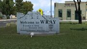 Wray Welcome to Wray sign.jpg