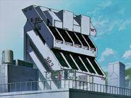 Evangelion edificio de armas