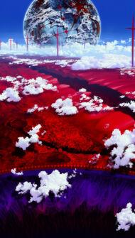Rebuild of Evangelion paisaje tintes surrealistas.jpg