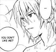 Kaworu disliked by Shinji (Sadamoto Manga)